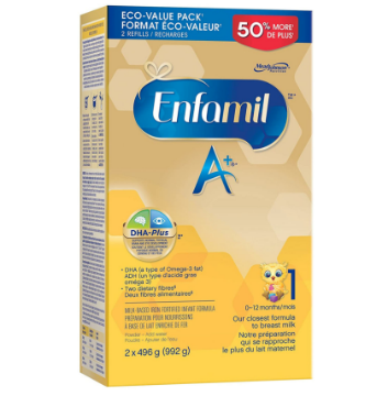 Picture of 【特价奶粉包邮】Enfamil A+ 1 Infant Formula, Powder Refill (0~12Months) 2x496g