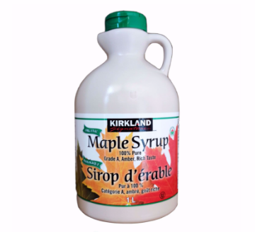 Picture of Kirkland Signature Maple Syrup 100% Pure Grade A, Amber, Rich Taste 1L