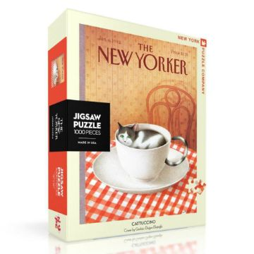图片 NEW YORKER PUZZLE 1000PC CATTUCCINO 纽约客拼图 1000片