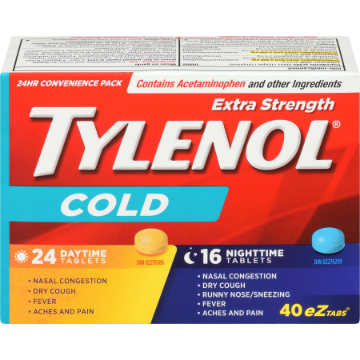 Picture of Tylenol Extra Strength Cold, Daytime/Nighttime